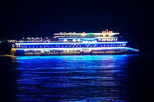 【2021宜昌長江夜游】乘坐三峽八號游輪,過船閘,賞長江夜景