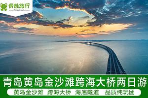青岛市内黄岛金沙滩跨海大桥海底隧道两日游