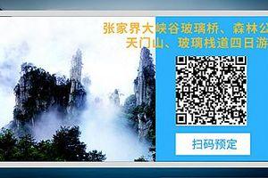 武汉到张家界大峡谷玻璃桥、森林公园、天门山、玻璃栈道火车四日