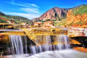 【银川周边2日游】彭阳山花节、茹河瀑布两日游