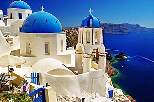 希腊双岛米克洛斯岛、圣托里尼岛无购物8日半自由行