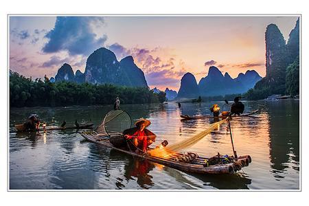 散客天天发:桂林兴坪渔村,龙脊梯田,瀑布红溪,西街四日游