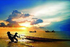 东兴京岛海边金滩,国门口岸纯玩一日游