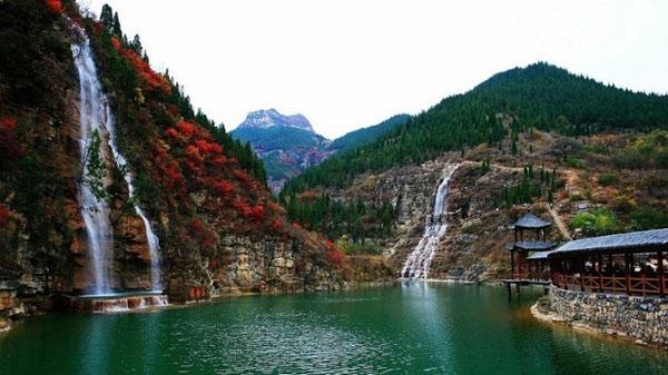 跟团游>【泰和山风景区】青州黄花溪,天缘谷一日游 有山有水好景色