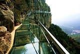 【青铜山大峡谷1日游】山东首个最长的挂壁玻璃栈道