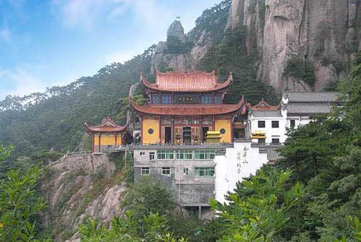 九华山风景动感图片