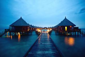 蜜月度假圣地马尔代夫宾度士岛五天三晚休闲游
