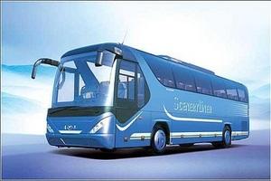 青岛旅游包车,33座、45座空调旅游大巴包车玩青岛