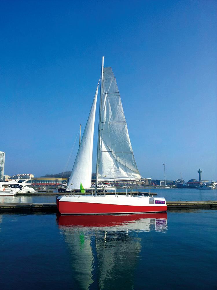 青島奧帆中心雙體帆船