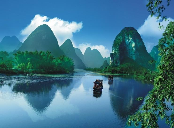 贺州风景简笔画