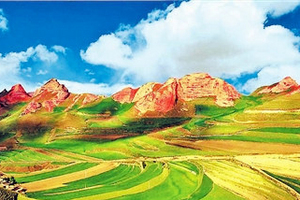 银川到火石寨、彭阳山花节、茹河瀑布汽车二日游