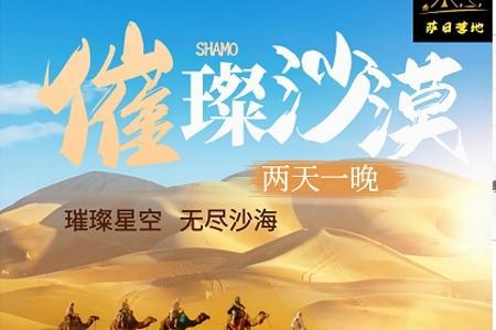 各地至宁夏璀璨沙漠2日游