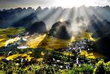 黄果树瀑布、荔波小七孔、青岩古镇、西江苗寨双飞五天纯玩