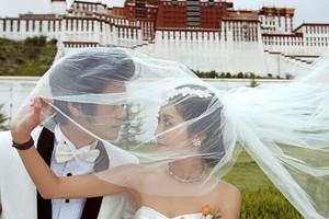 西藏婚紗照相旅游-布達拉宮+八廓街+藥王山婚紗攝影套餐