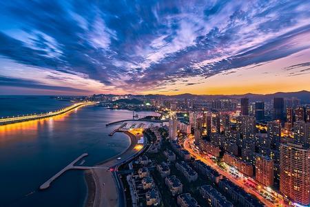 大连市内一日游_大连星海广场、跨海大桥_大连本地特色景色