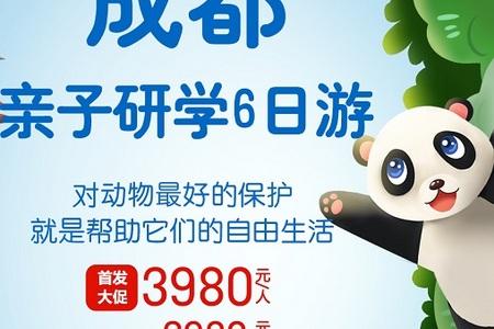 暑假成都研学亲子游_大连去成都研学6日游_大连去成都熊猫基地