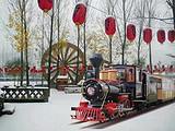 中原惊现雪乡—冬天就到墨子古街坐着火车游雪乡、看表演、观马战