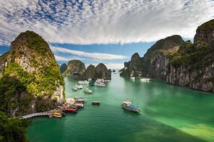 北海到越南下龙湾、月亮湖、天堂岛、河内3星纯玩四天游