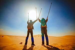 """""""探秘内蒙古""""——库布齐沙漠2天1晚轻装徒步穿越体验"""