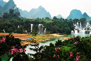 广西南宁德天瀑布2天1晚游、通灵大峡谷+龙虎山