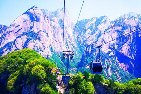 西安一日游 西岳华山 西上北下索道