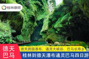 桂林出发:南宁、 德天瀑布、通灵、巴马 三晚四日游